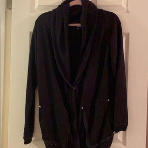 Aritzia Sweatshirt Jacket with Stud Details
